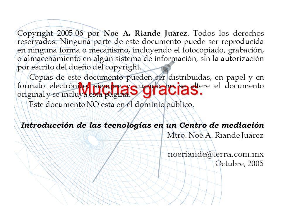 Copyright 2005-06 por Noé A. Riande Juárez