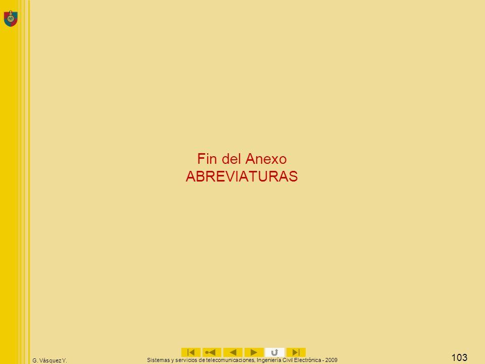 Fin del Anexo ABREVIATURAS