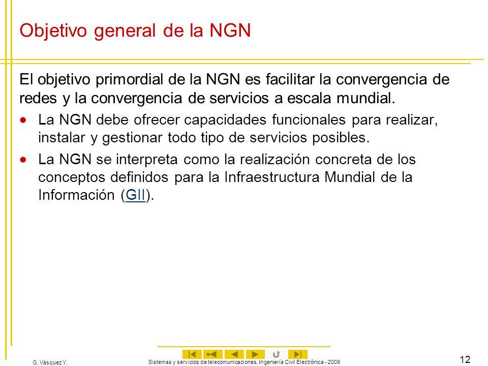 Objetivo general de la NGN