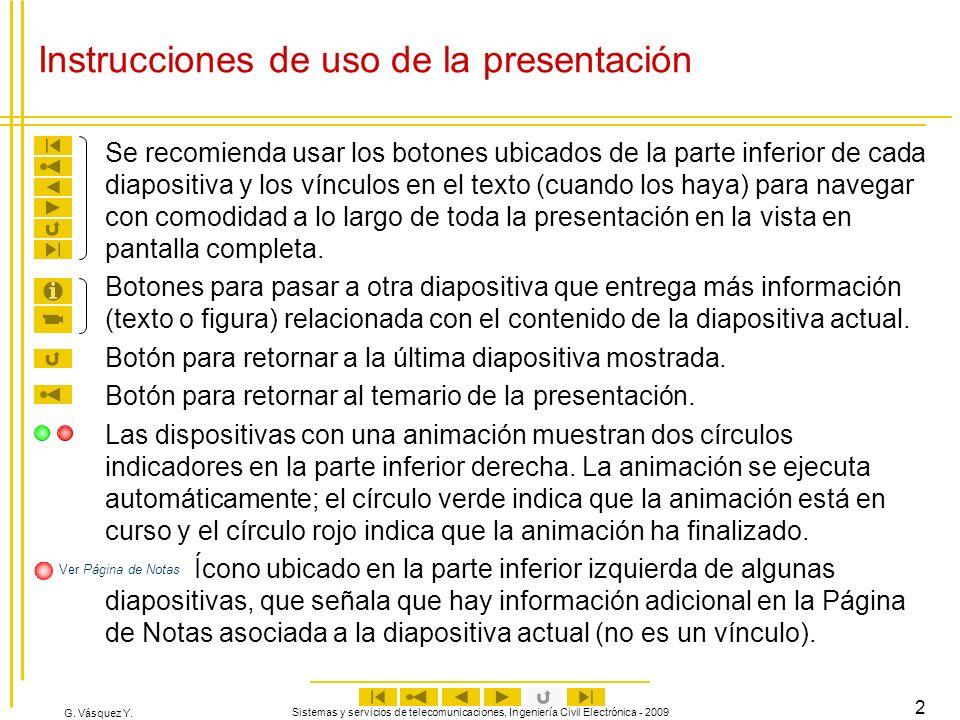 Instrucciones de uso de la presentación