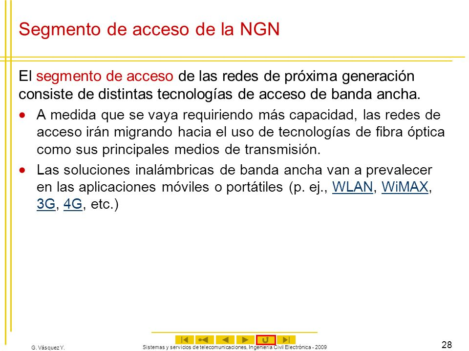 Segmento de acceso de la NGN