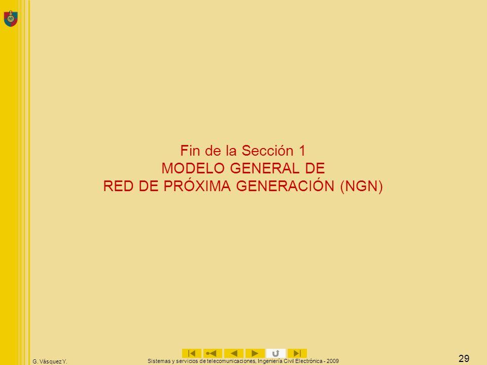 Fin de la Sección 1 MODELO GENERAL DE RED DE PRÓXIMA GENERACIÓN (NGN)
