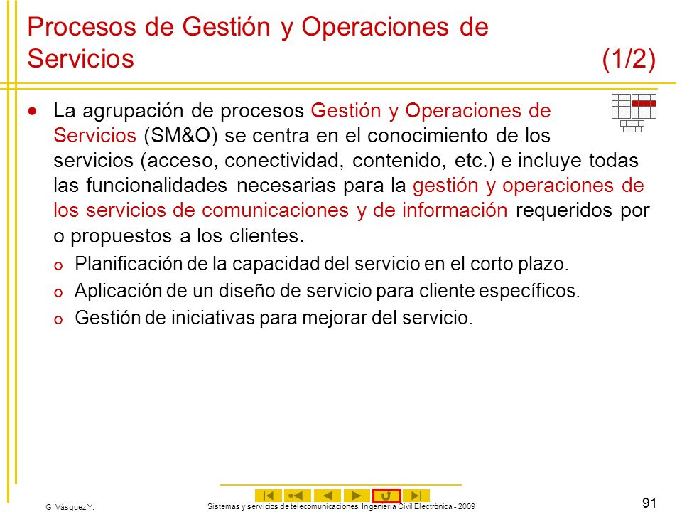 Procesos de Gestión y Operaciones de Servicios (1/2)
