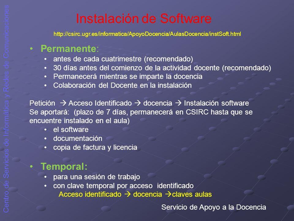 Instalación de Software