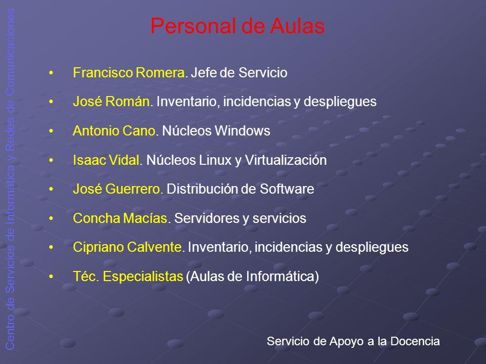 Personal de Aulas Francisco Romera. Jefe de Servicio