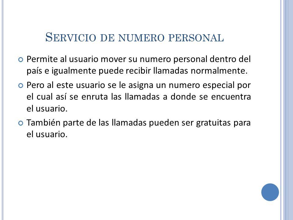 Servicio de numero personal
