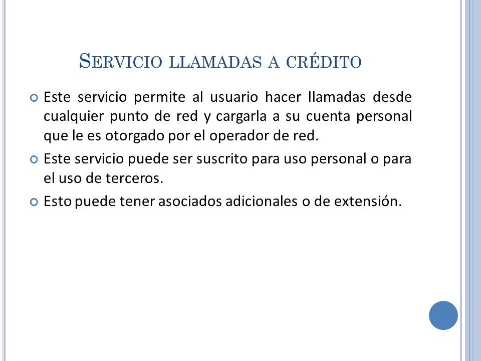 Servicio llamadas a crédito