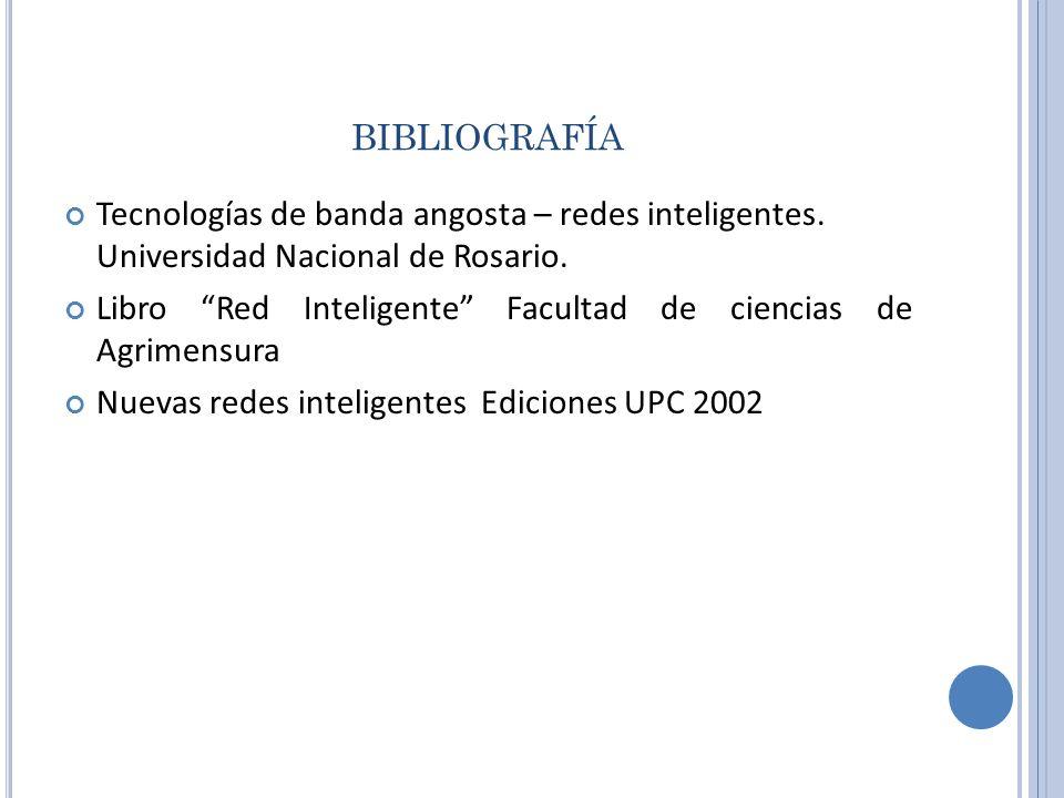 bibliografía Tecnologías de banda angosta – redes inteligentes. Universidad Nacional de Rosario.