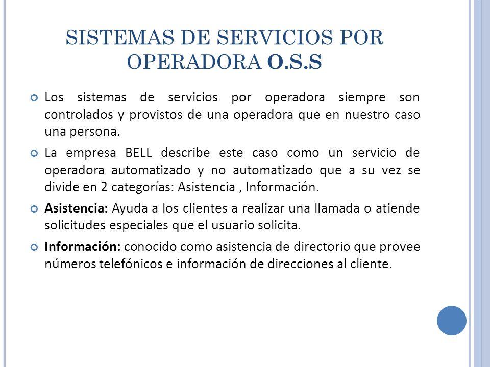 SISTEMAS DE SERVICIOS POR OPERADORA O.S.S