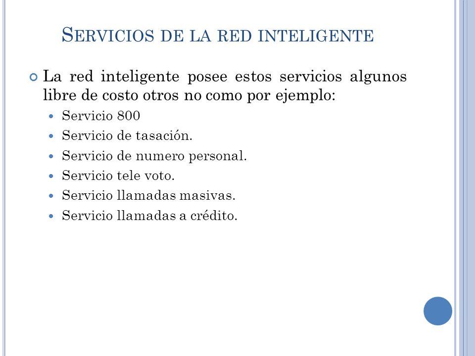 Servicios de la red inteligente