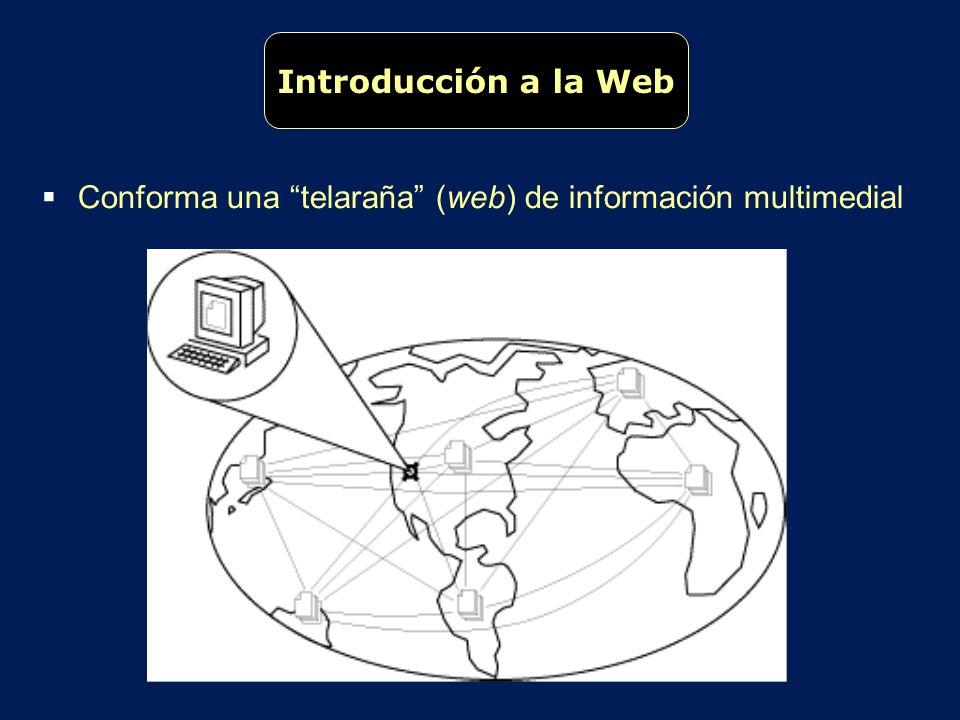 Introducción a la Web Conforma una telaraña (web) de información multimedial