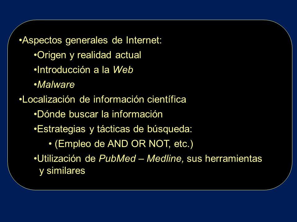 Aspectos generales de Internet: