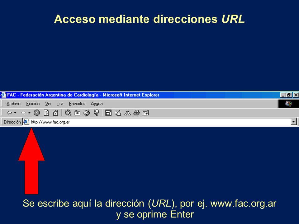 Acceso mediante direcciones URL