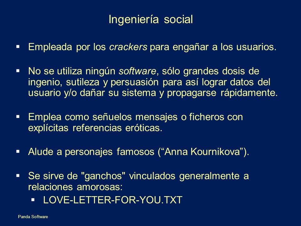 Ingeniería social Empleada por los crackers para engañar a los usuarios.