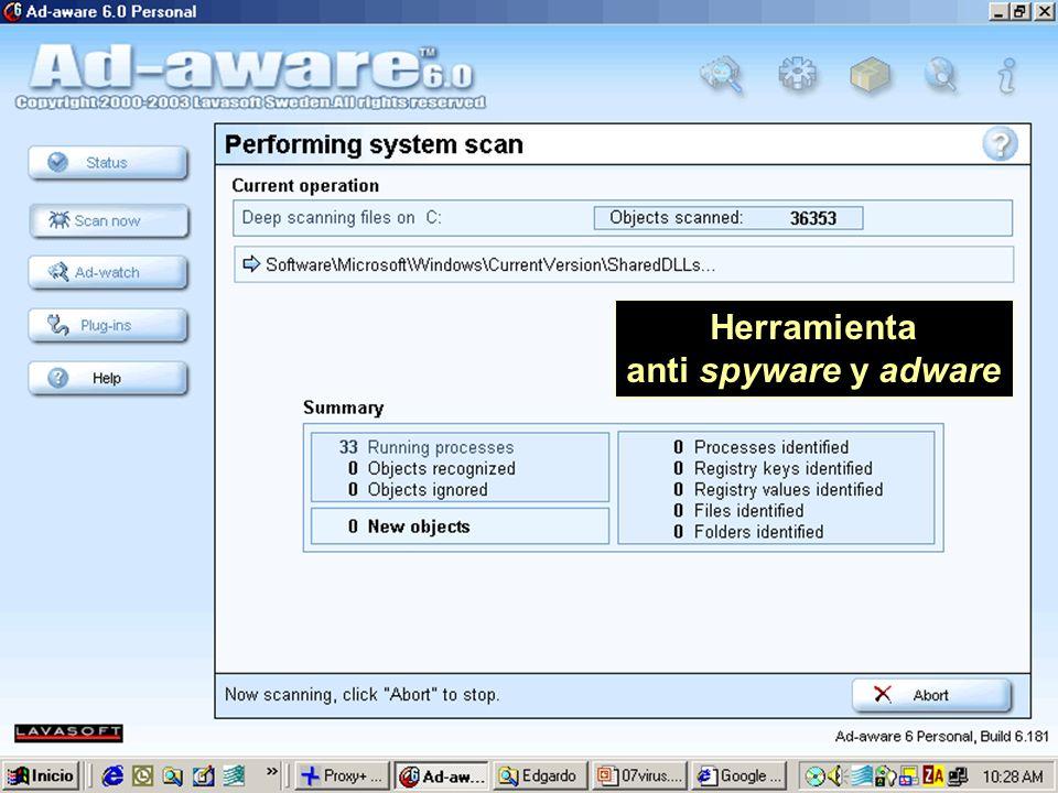 Herramienta anti spyware y adware