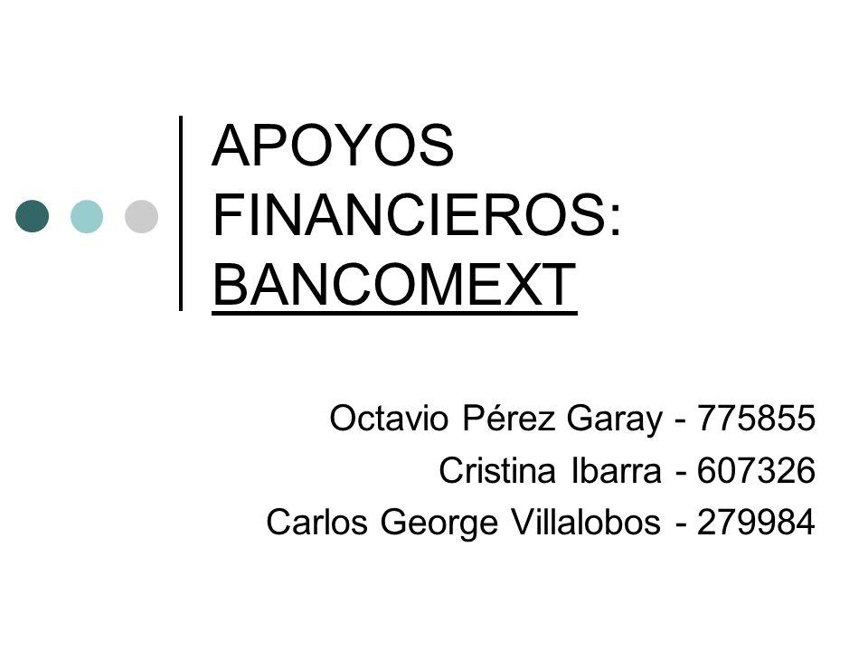 APOYOS FINANCIEROS: BANCOMEXT