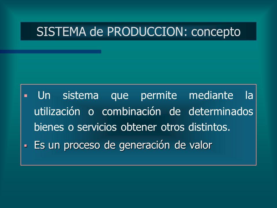 SISTEMA de PRODUCCION: concepto