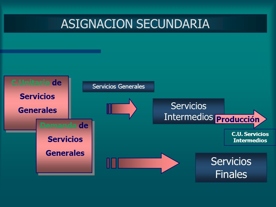 ASIGNACION SECUNDARIA