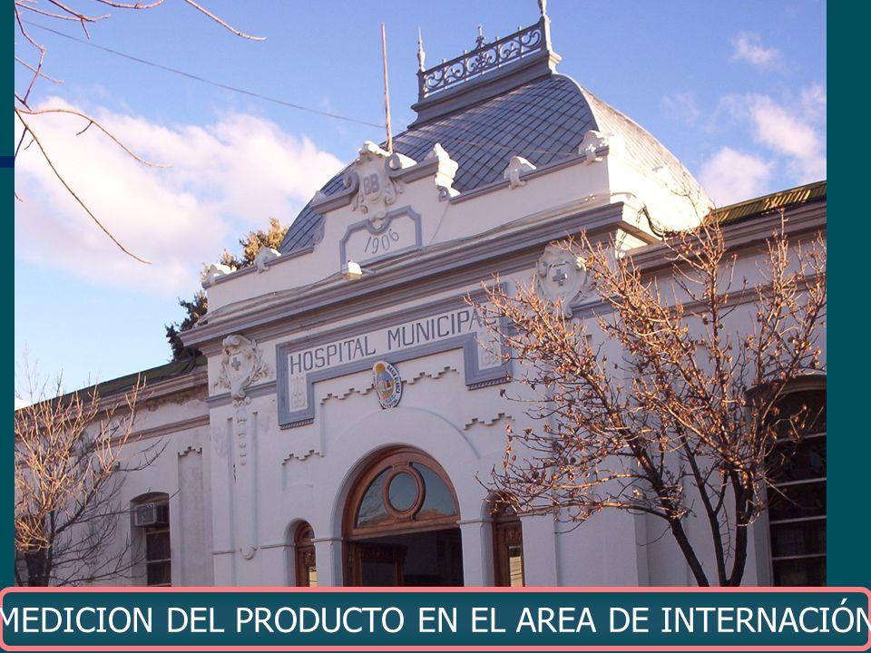 MEDICION DEL PRODUCTO EN EL AREA DE INTERNACIÓN