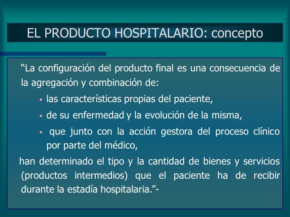 EL PRODUCTO HOSPITALARIO: concepto