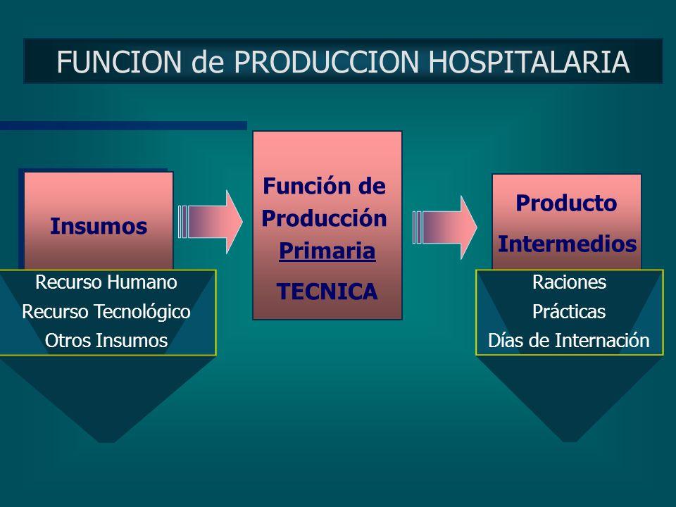 FUNCION de PRODUCCION HOSPITALARIA