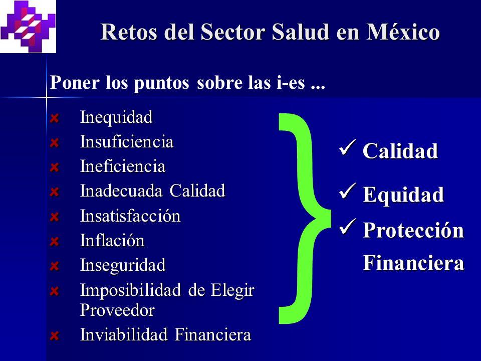 } Retos del Sector Salud en México Calidad Equidad