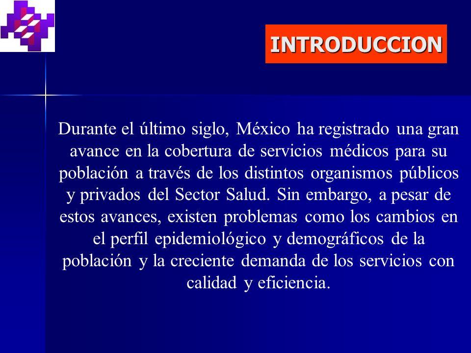 INTRODUCCION Durante el último siglo, México ha registrado una gran