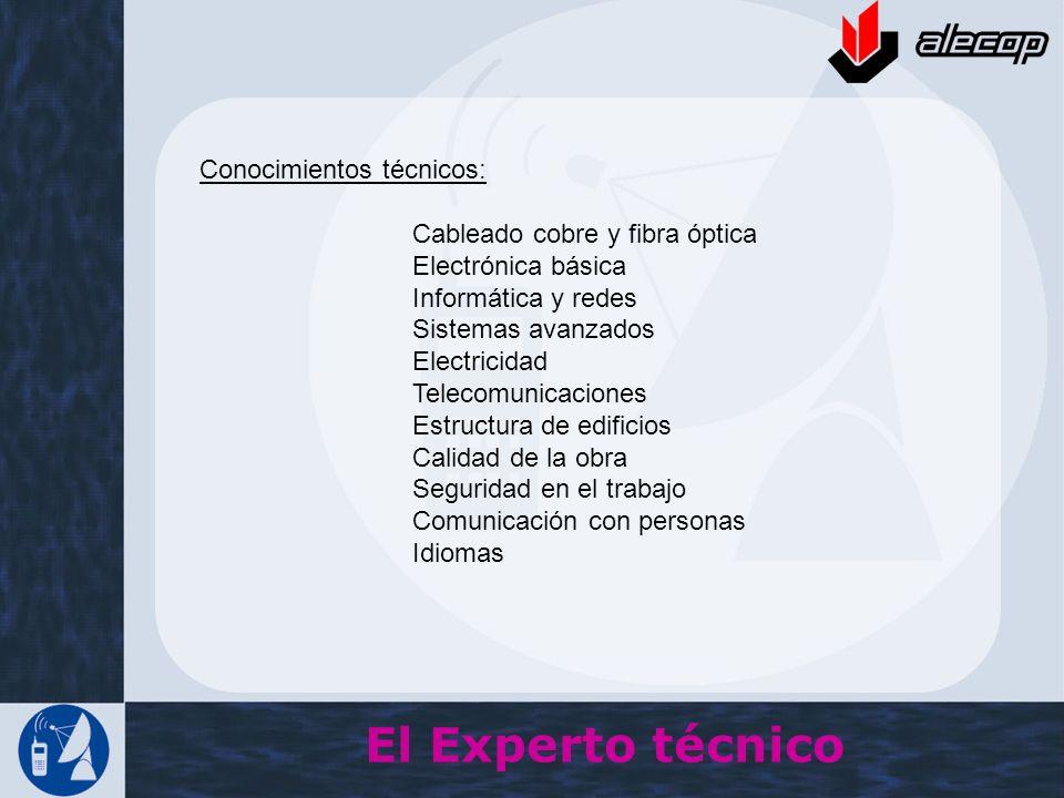 El Experto técnico Conocimientos técnicos: