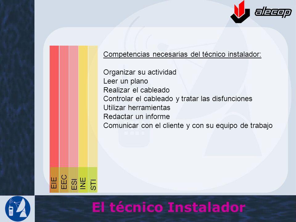 El técnico Instalador Competencias necesarias del técnico instalador: