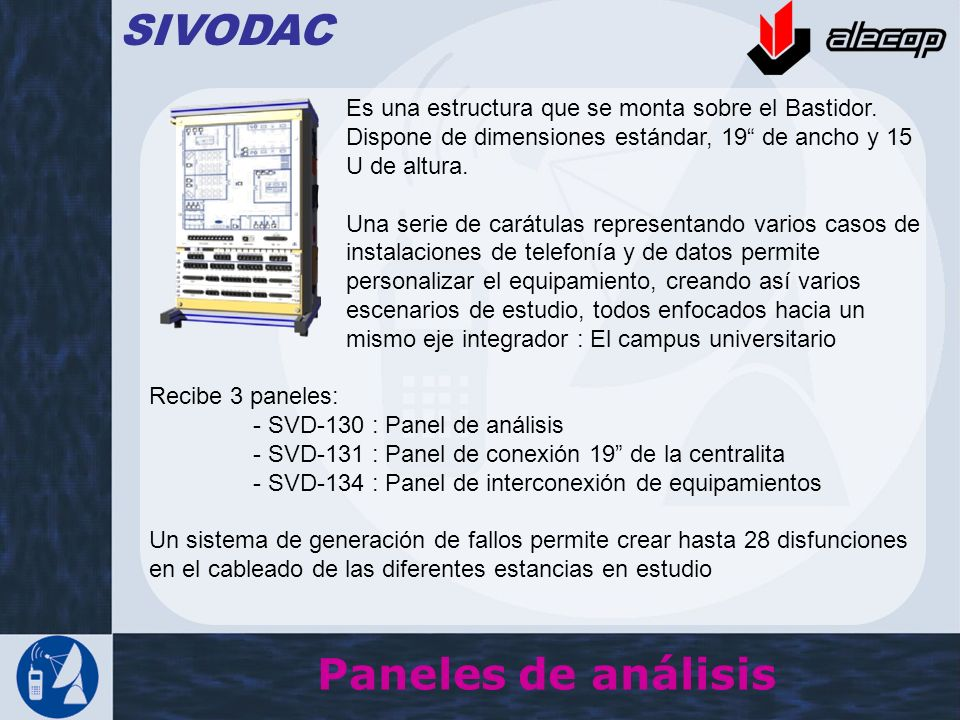 SIVODAC Paneles de análisis