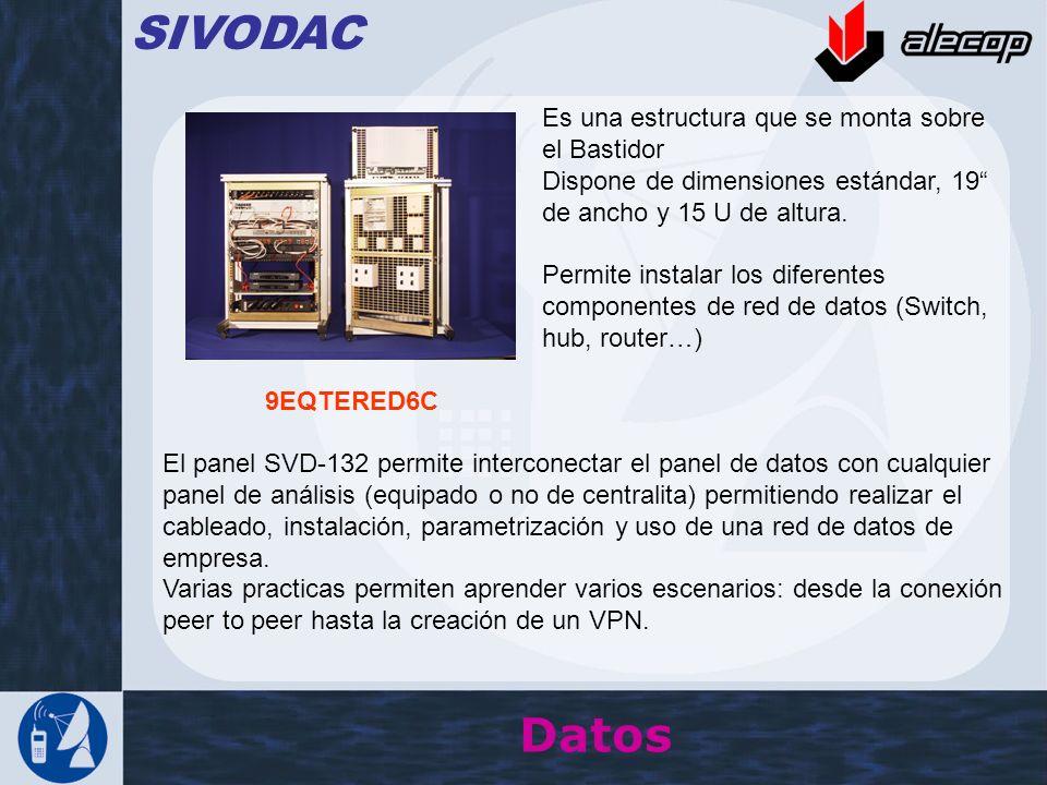 SIVODAC Datos Es una estructura que se monta sobre el Bastidor