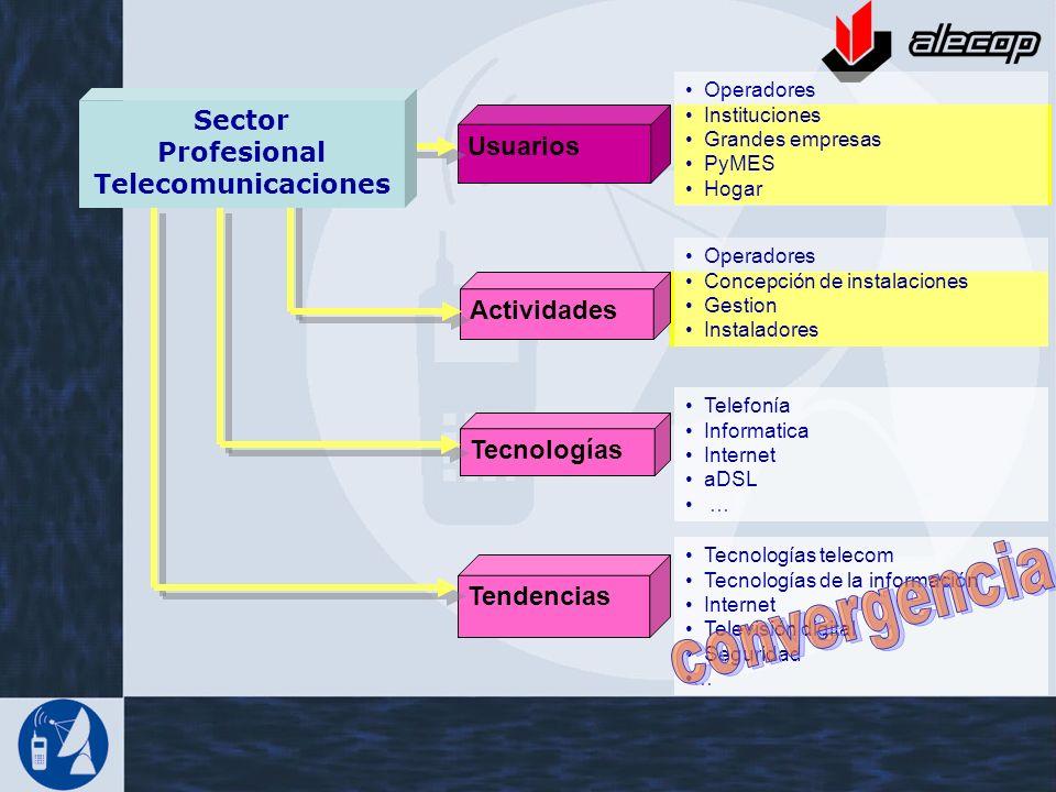 convergencia Sector Profesional Usuarios Telecomunicaciones