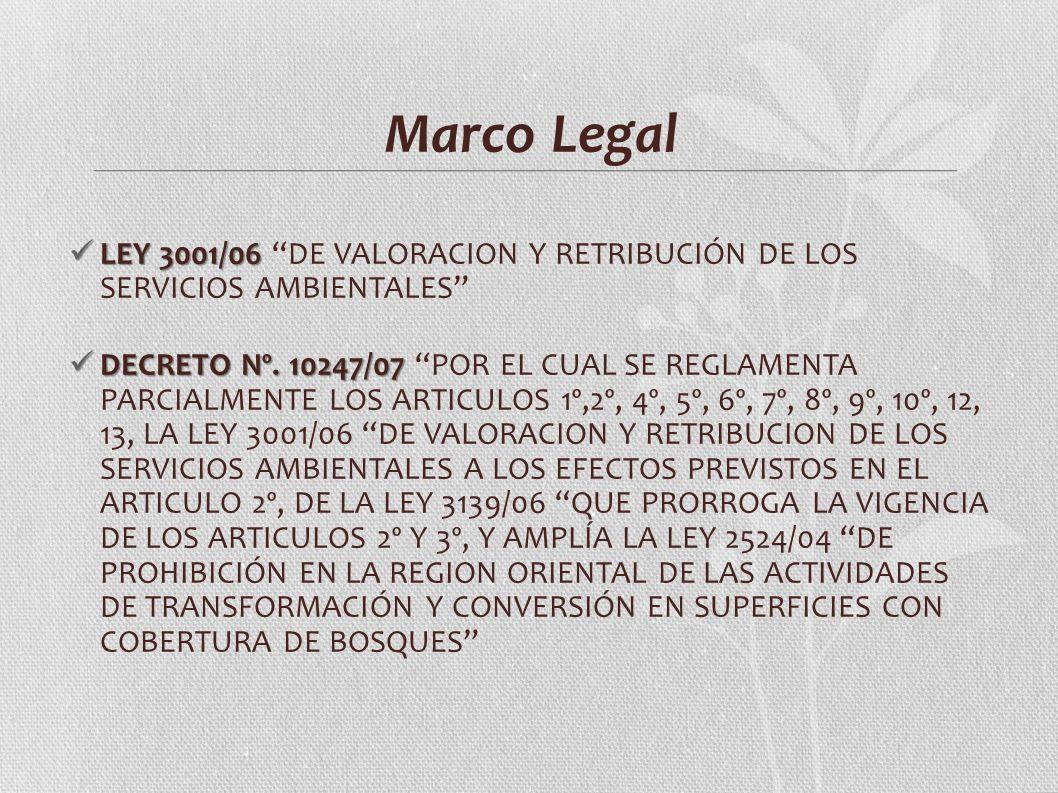 Marco Legal LEY 3001/06 DE VALORACION Y RETRIBUCIÓN DE LOS SERVICIOS AMBIENTALES