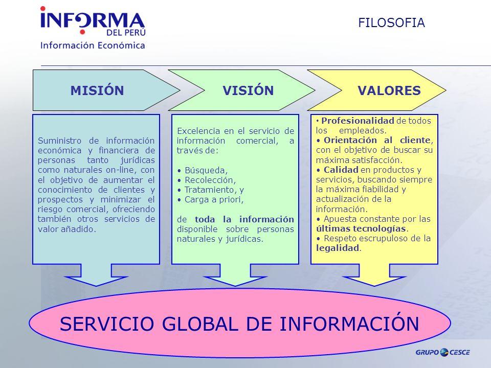 SERVICIO GLOBAL DE INFORMACIÓN