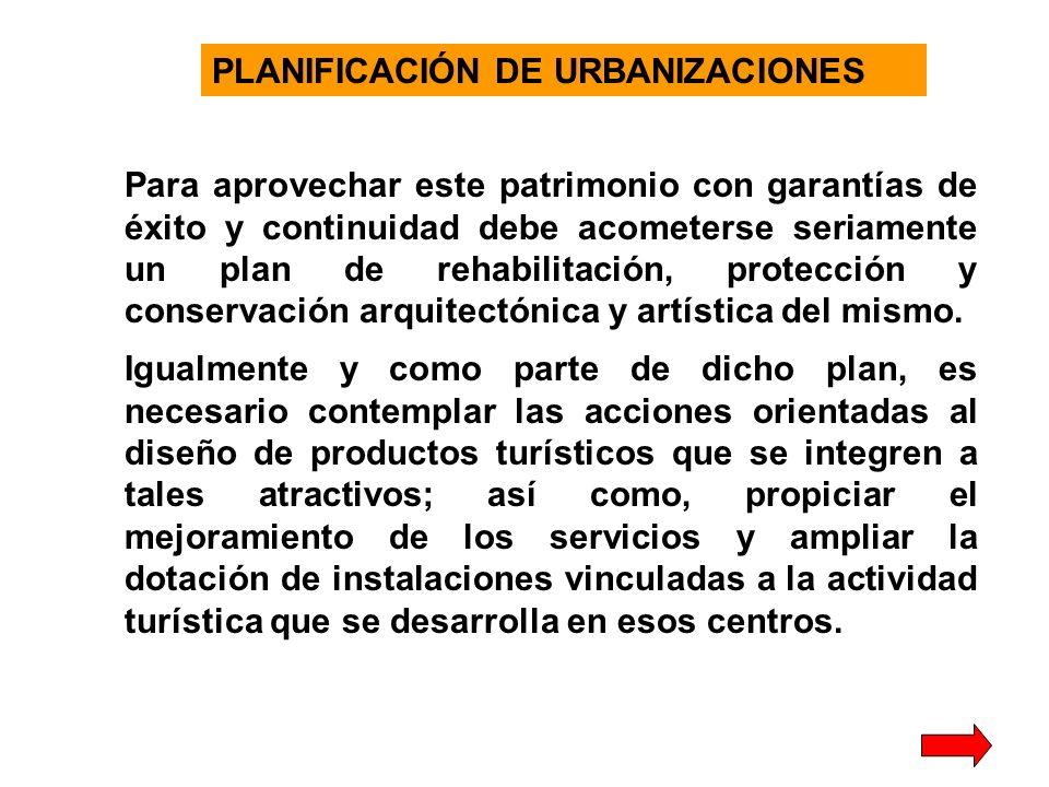 PLANIFICACIÓN DE URBANIZACIONES