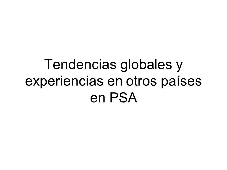 Tendencias globales y experiencias en otros países en PSA