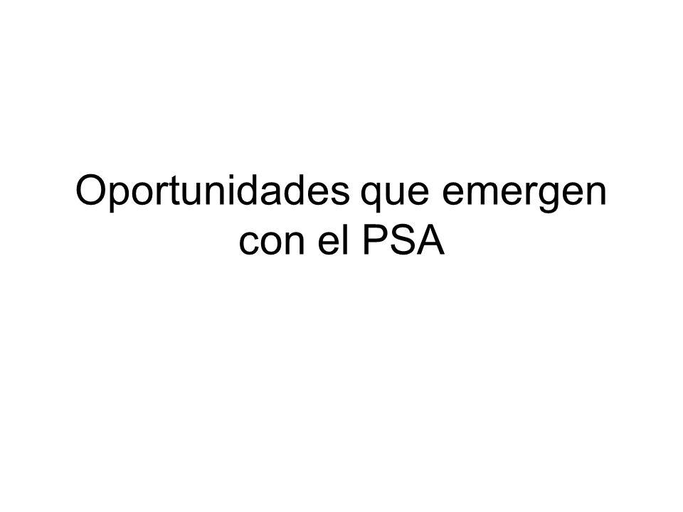 Oportunidades que emergen con el PSA