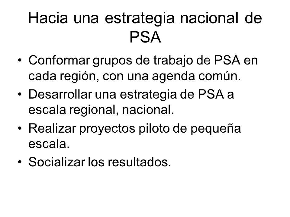 Hacia una estrategia nacional de PSA
