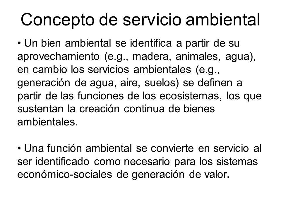 Concepto de servicio ambiental