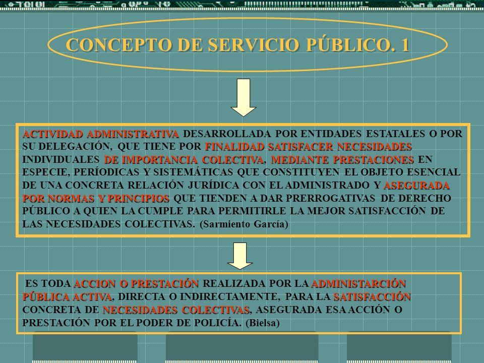 CONCEPTO DE SERVICIO PÚBLICO. 1