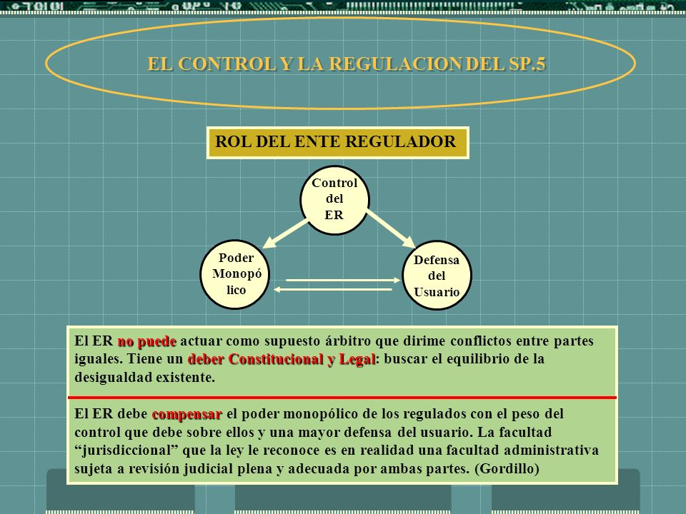 EL CONTROL Y LA REGULACION DEL SP.5