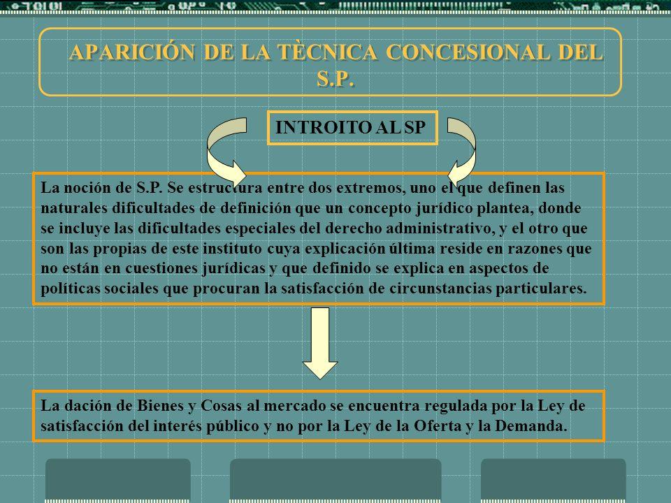 APARICIÓN DE LA TÈCNICA CONCESIONAL DEL S.P.
