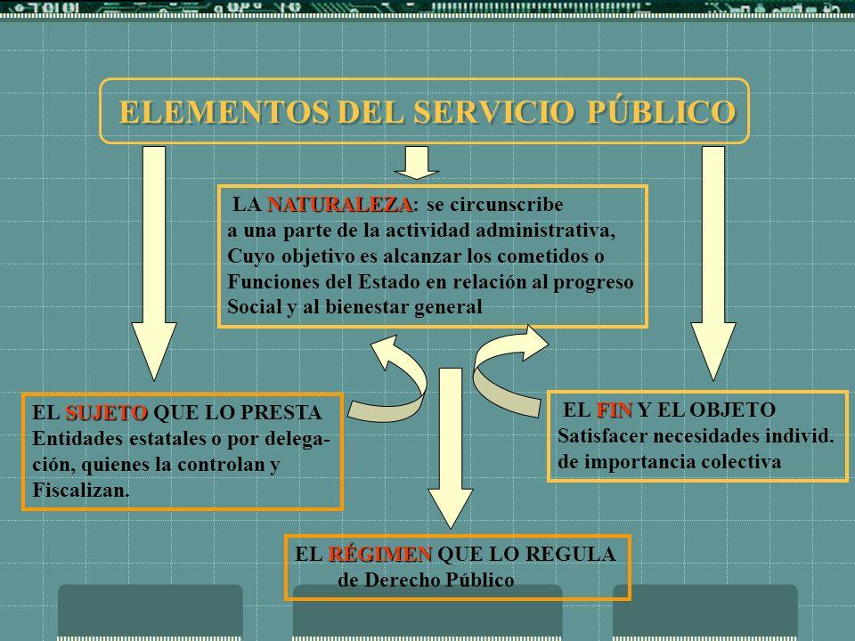 ELEMENTOS DEL SERVICIO PÚBLICO