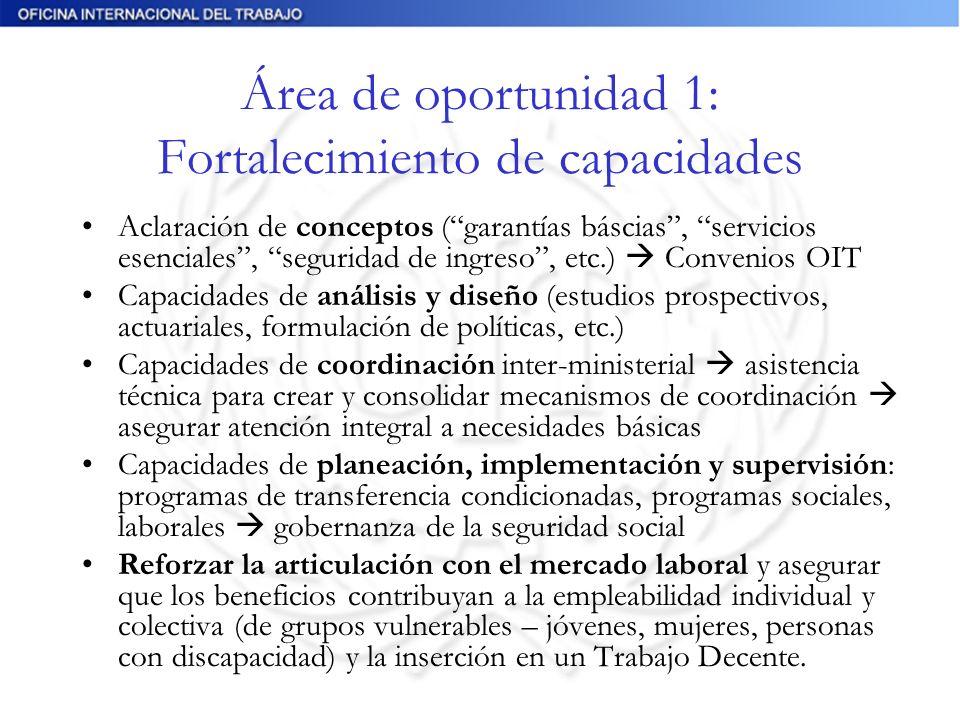Área de oportunidad 1: Fortalecimiento de capacidades