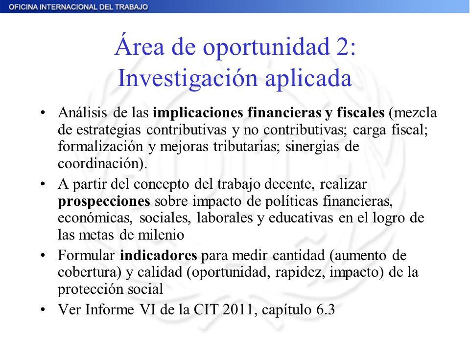 Área de oportunidad 2: Investigación aplicada