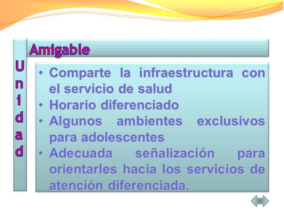 Amigable Unidad Comparte la infraestructura con el servicio de salud