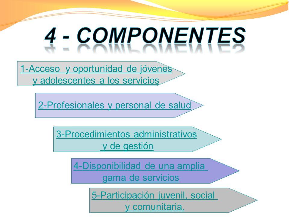 4 - COMPONENTES 1-Acceso y oportunidad de jóvenes