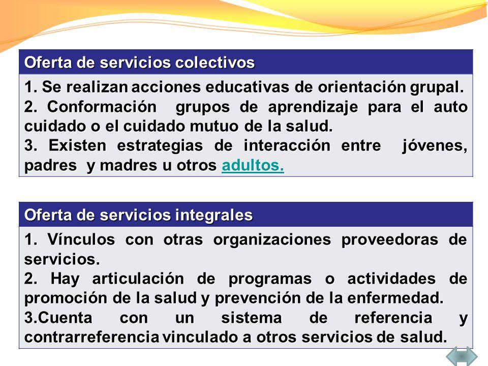 Oferta de servicios colectivos