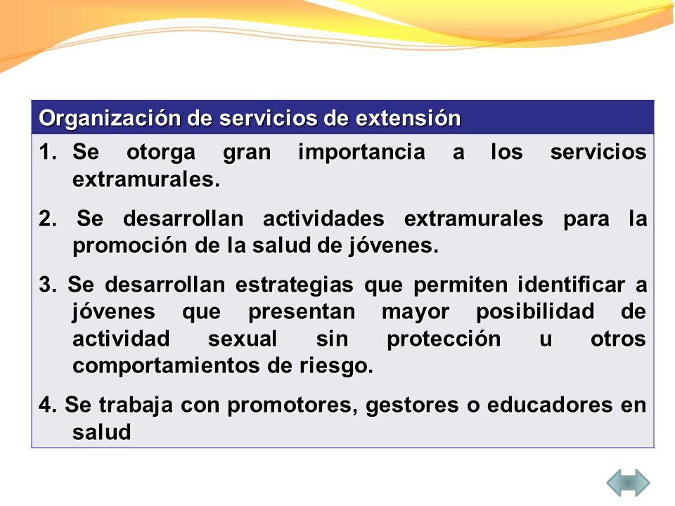 Organización de servicios de extensión