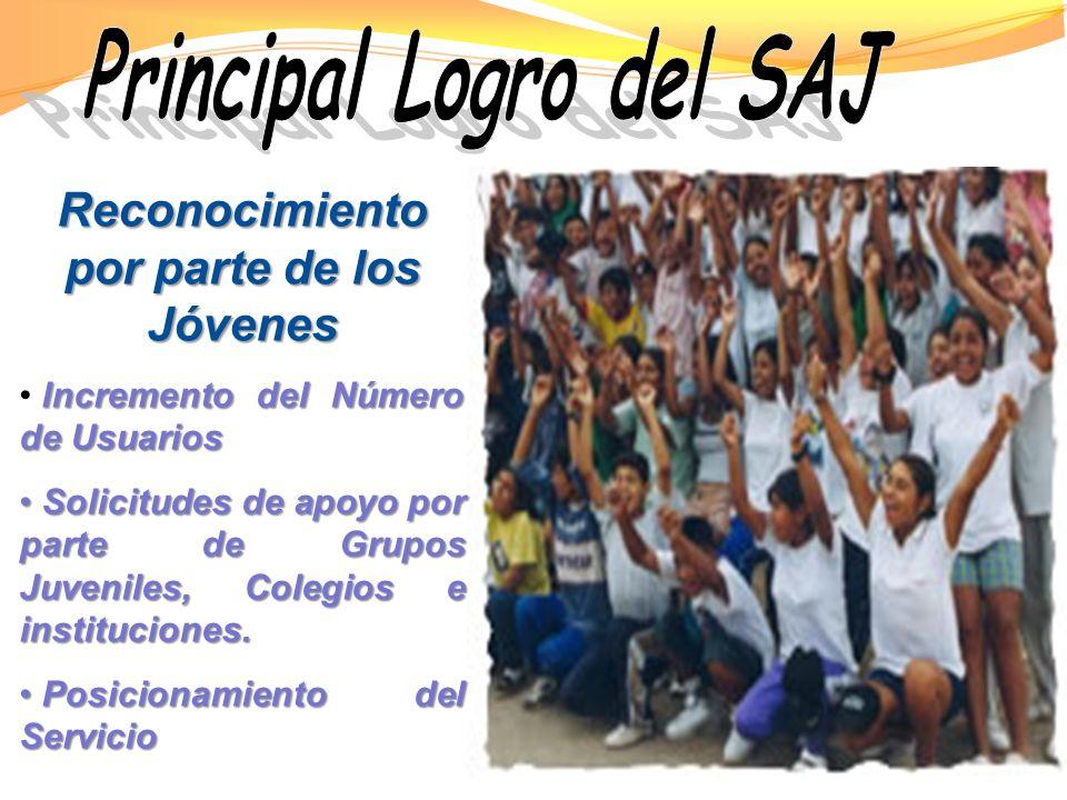 Principal Logro del SAJ Reconocimiento por parte de los Jóvenes